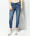 Empyre Tessa jeans cortos y ajustados con lavado medio