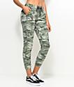 Empyre Tia pantalones jogger camuflados en verde olivo