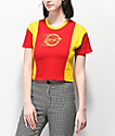 Empyre Tiare Out Of It Red & Yellow Crop T-Shirt
