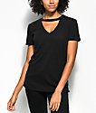 Empyre Topaz Black Choker Neck T-Shirt