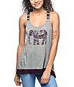 Empyre Trace Elephant camiseta sin mangas en gris