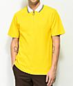 Empyre Venter camiseta polo amarilla con cremallera