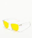 Empyre Vice gafas de sol translúcidas y amarillas