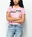 Empyre Yohanna Whatever camiseta rosa con efecto tie dye