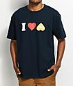 Enjoi I Heart Hearts camiseta en azul marino