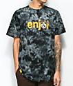 Enjoi Metal Panda Black Tie Dye T-Shirt