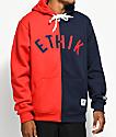 Ethik Split Red & Blue Zip Hoodie