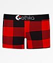Ethika Staple Red Plaid Boyshort Panty
