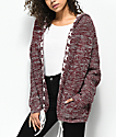 Ethos Lady Burgundy Hooded Cardigan