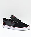 Etnies Barge LS zapatos de skate de lienzo negro, gris y color plata