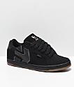 Etnies Fader 2 Black & Gum Nubuck Skate Shoes