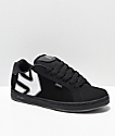 Etnies Fader Black, Black & Reflective Skate Shoes
