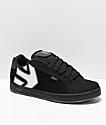 Etnies Fader zapatos negros de skate reflectantes
