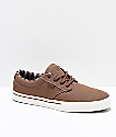 Etnies Jameson 2 Eco zapatos de skate de color chocolate y blanco