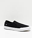 Etnies Langston Black & White Slip-On Skate Shoes