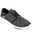 Etnies Scout Black & White Heather Knit Shoes
