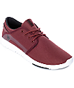 Etnies Scout Burgundy, Black & White Shoes