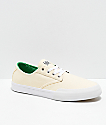 Etnies x Sheep Jameson Vulc LS White & Green Skate Shoes