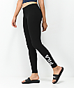 FILA Adele Black Ribbed Leggings