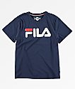 FILA Boys Classic Logo Blue T-Shirt