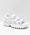 FILA Disruptor All White Sandal