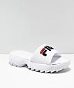FILA Disruptor Bold White Slide Sandals