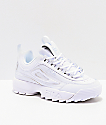 FILA Disruptor II Premium All White Shoes