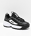 FILA Disruptor II Premium Black & White Leather Shoes