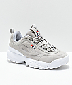 FILA Disruptor II Premium Suede Grey Shoes