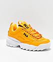 FILA Disruptor II Premium Yellow, White & Black Shoes