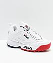 FILA Disruptor II Premium zapatos blancos, rojos y azules