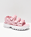 FILA Disruptor Pink & White Sandal