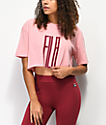 FILA Domenica Pink & Red Crop T-Shirt