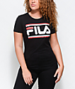FILA Double Stripe camiseta negra
