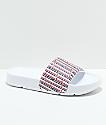 FILA Drifter Lia White Logo Slide Sandals