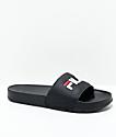 FILA Drifter Slide sandalias en negro, rojo y blanco