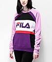 FILA Emi Lavender Crewneck Sweatshirt