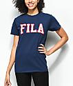 FILA Grace Navy T-Shirt