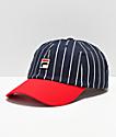 FILA Heritage gorra roja y azul de rayas