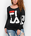 FILA Logo Black Long Sleeve T-Shirt