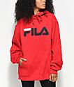 FILA Logo Red Hoodie