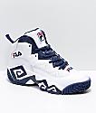 FILA MB zapatos en blanco, azul marino y rojo