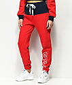 FILA Mara Red & Blue Jogger Pants