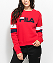 FILA Newton Red Crew Neck Sweatshirt