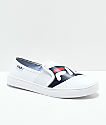 FILA Original Logo White Slip-On Shoes