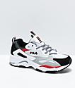 FILA Ray Tracer zapatos blancos, grises y rojos