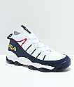 FILA Spaghetti White, Navy & Red Knit Shoes