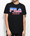 FILA x Pink Dolphin Chrome Black T-Shirt