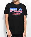 FILA x Pink Dolphin Chrome Black T-Shirt