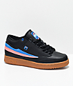 FILA x Pink Dolphin T1 Mid Black & Gum Shoes